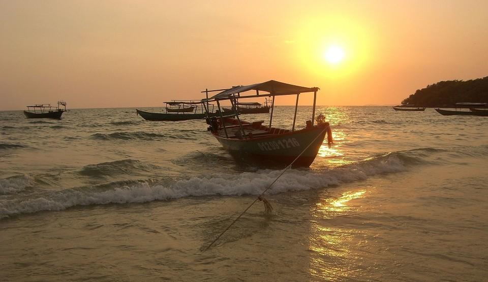Kambodscha Flussfahrt